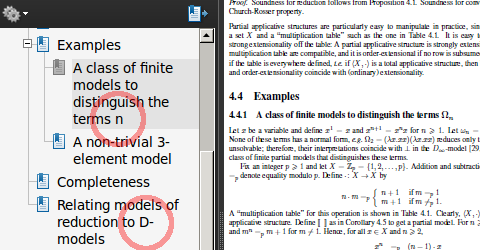 Latex pdf bookmark
