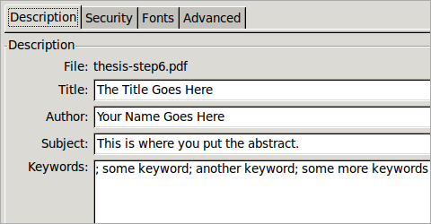 thesis abstract keywords
