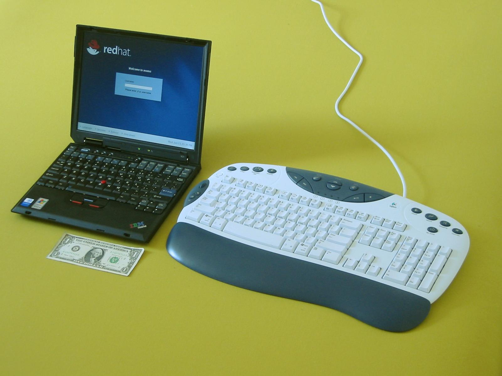 Peter Selinger: Linux on an IBM Thinkpad X31: Images